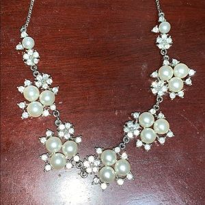 PEARL/DIAMOND STATEMENT NECKLACE